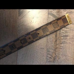 Louis Vuitton Accessories - PRE OWNED AUTHENTIC DAMIER EBENE BELT 34/85